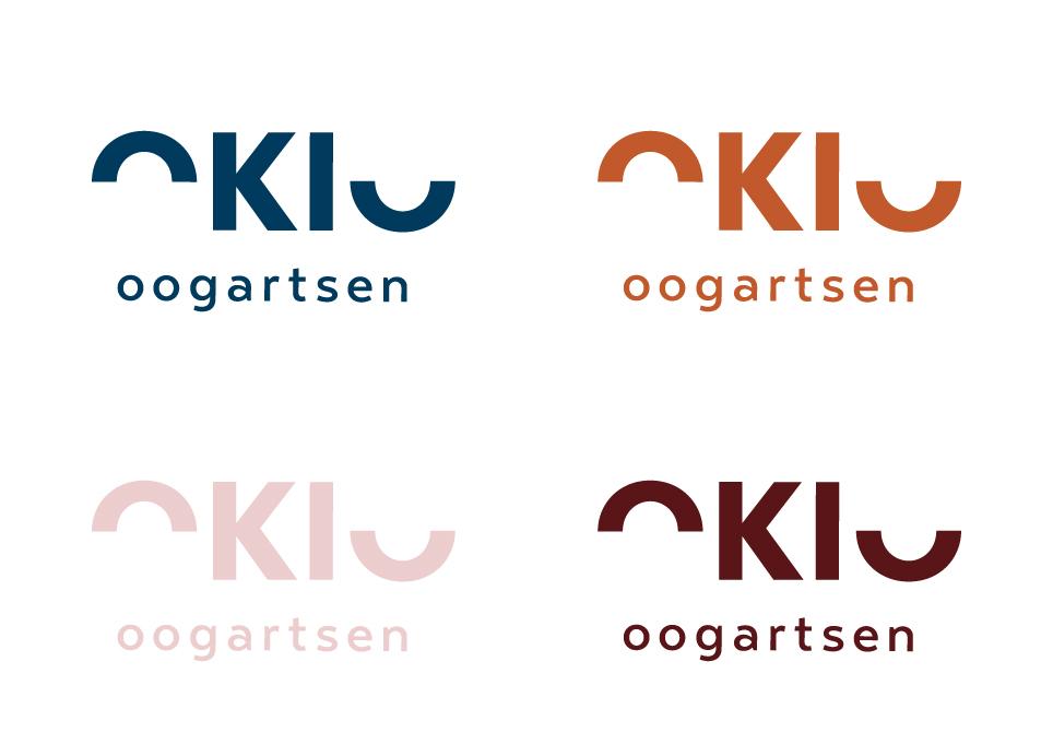 Okio logo in verschillende kleuren