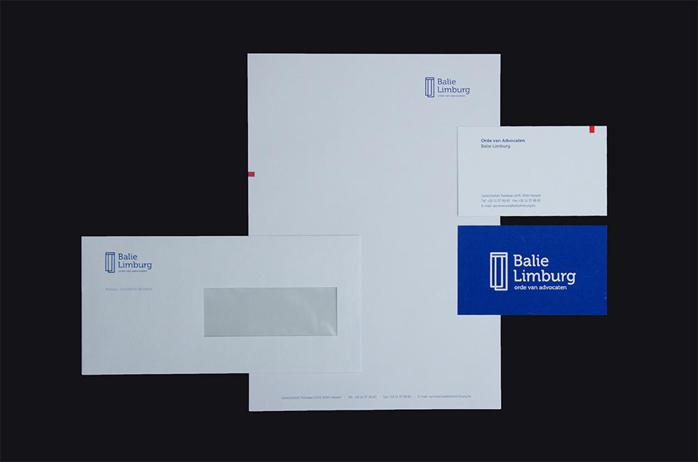 Balie Limburg enveloppe en visitekaartjes