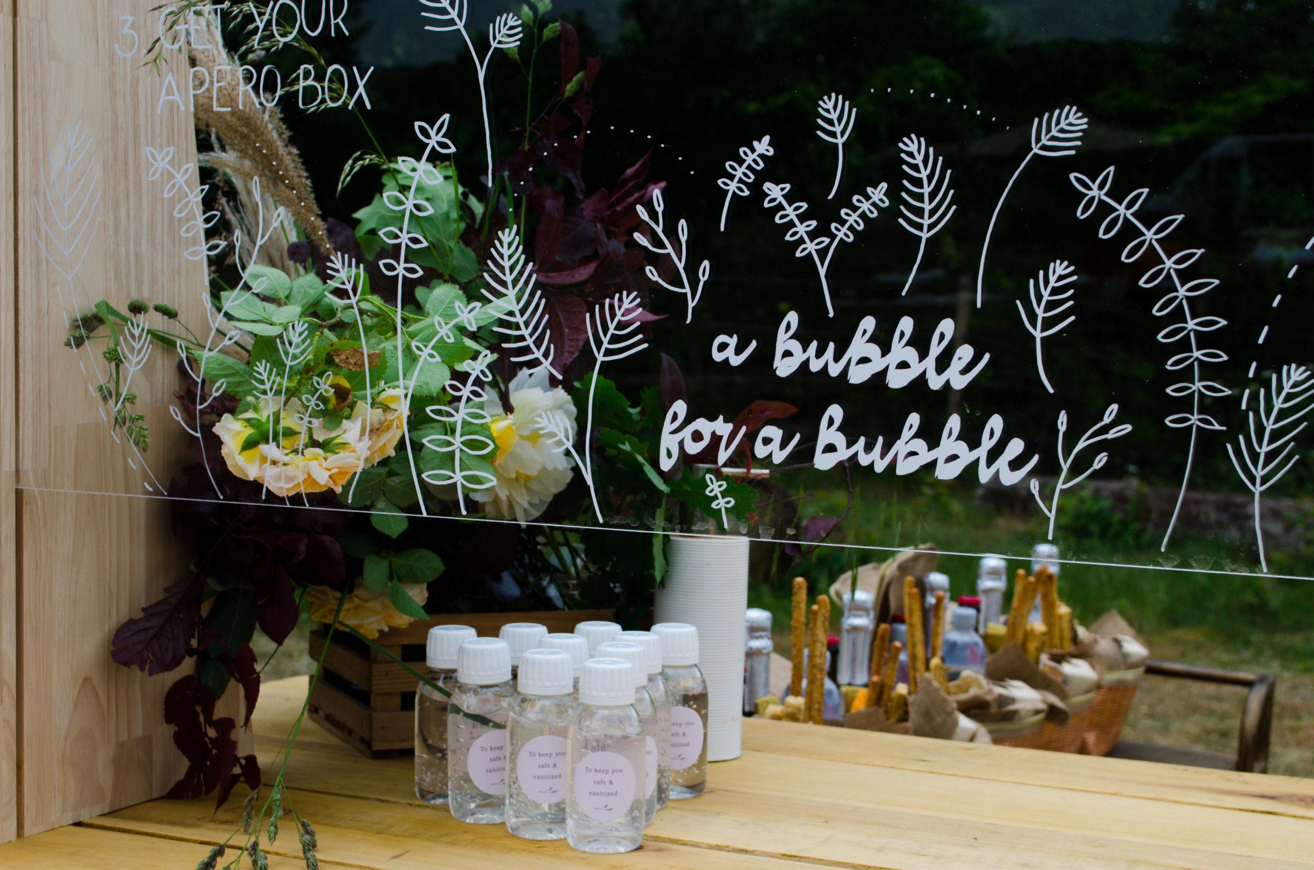 a bubble for a bubble versiering plexiglas huwelijk